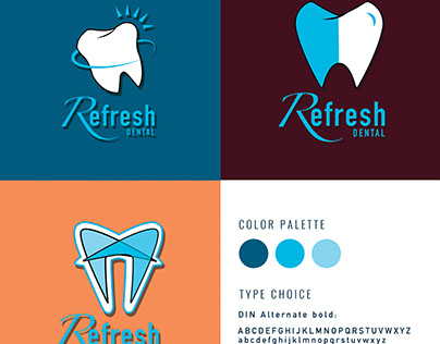 Refresh Dental Logo Brand