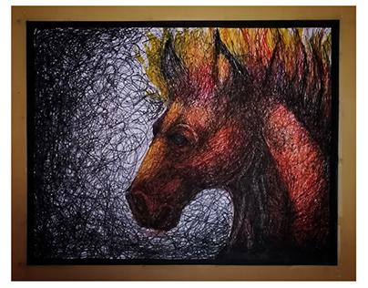 The burning Horse