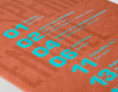 Editorial design - Sperimentale no.1
