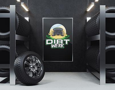 Dirt Werk Logo Branding Board