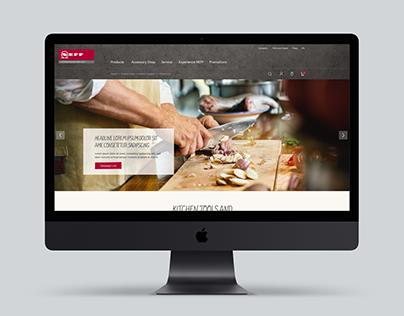 Webdesign NEFF Haushaltsgeräte