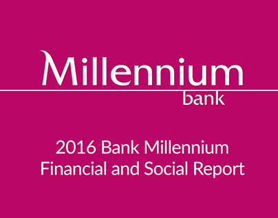Bank Millenium / annual report layout / digital