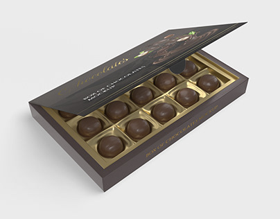 Box Of Chocolates Mockup