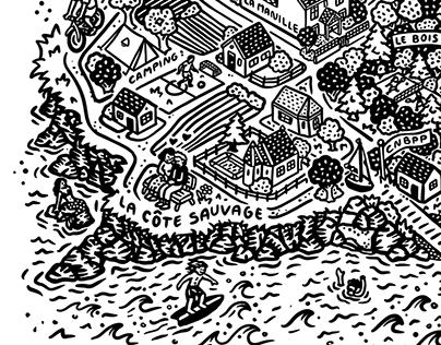 Le Pouliguen - city map