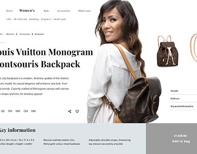 Desktop Fashion Store Design