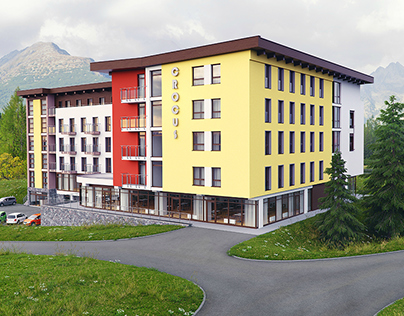 3D Architectural Visualization Project - Hotel Crocus
