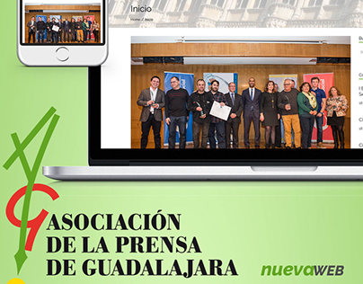Web Asociación de la Prensa de Guadalajara