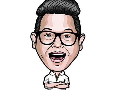 Caricature Self Portrait in Vector