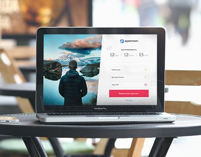Messaging App. Landing page