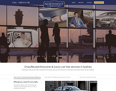 Northwest Limousine Website Design and Development