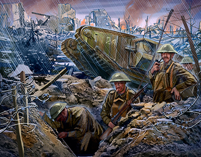 Various drawings of the Great War