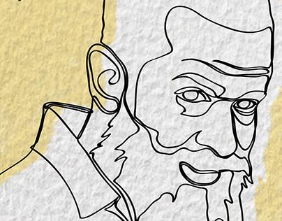 Single Line Illustrations: Teachers Portraits