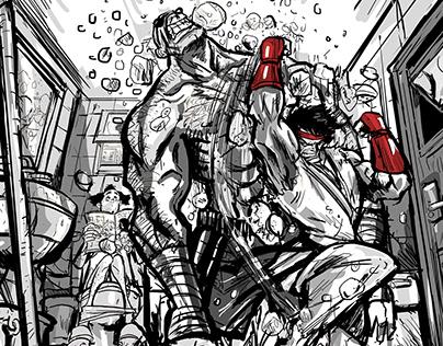 Street fighter Ryu vs. Sagat