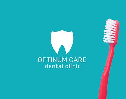 logo optinum care / dental clinic