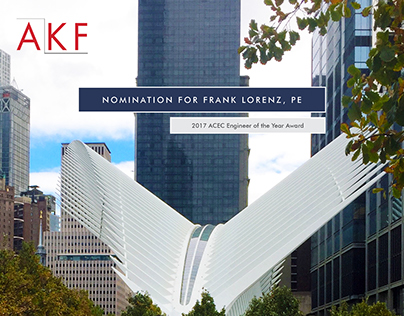ACEC NY Engineer of the Year Award: AKF Submission