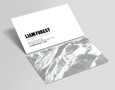 FREE PSD / horizontal business card / FOREST
