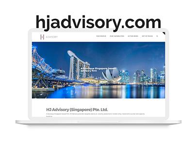 Website design for a financial advisory company