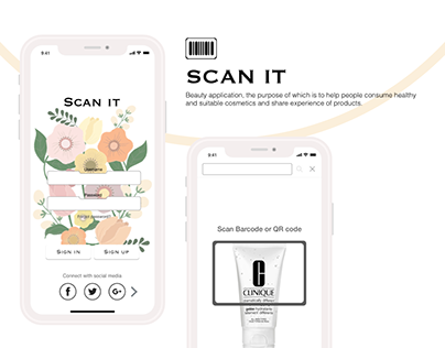 UI/ UX/ Product design for beauty application