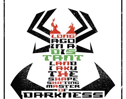Samurai Jack - Aku - Typographic Poster