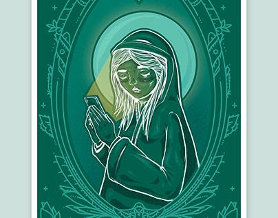 'Our Lady' Illustration - Fine Art Print Series