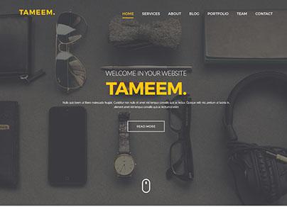 TAMEEM 2— Portfolio PSD Theme