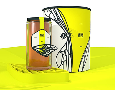 design of packaging product honey