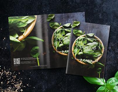Parque Café menu 17' - editorial design, print