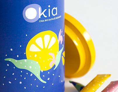 Emballage de chia biologique Okia