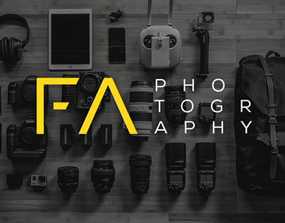 FA Photography UI/UX website concept