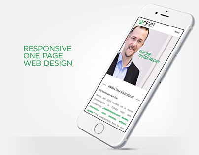 Responsive One Page Web Design – Boldt