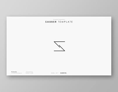 Sauber Powerpoint Template
