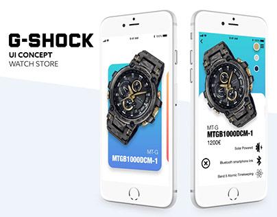 G Shock Casio / UI Concept
