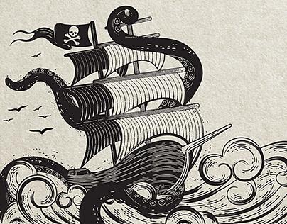 Label Rum Corsair