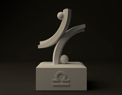 3D project: Monumental composition of Libra