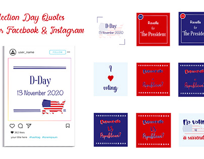 Election Day FB and IG Quote & Icon