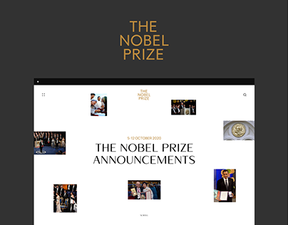 Nobel Prize. Redesign concept