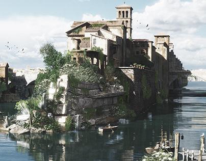 L'isola Tiberina al tempo di Piranesi