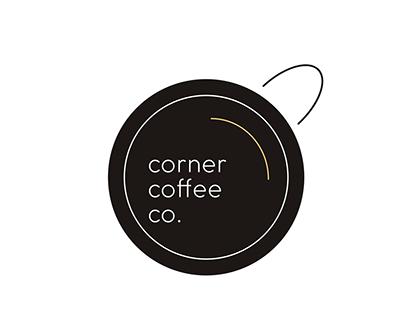 corner coffee co. brand sheet & logo set