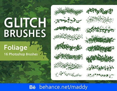 Glitch Brush Set 3 for Subscribers (Foliage)