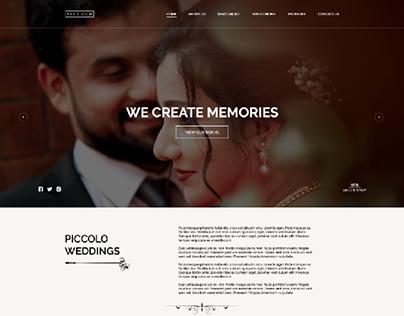 Piccolo Weddings - Website