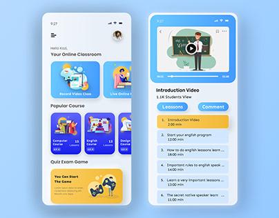 E-learning Educational App Design
