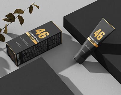 Cosmetic Tube Mockup Template, Packaging Mockup Design