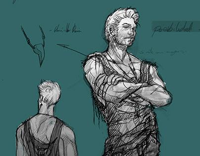 Diseño de personajes para el proyecto Nirvana.
