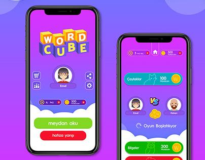 Word Cube Game Ui-Ux