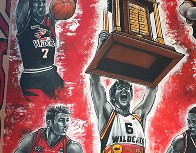 Perth Wildcats Trophy Mural
