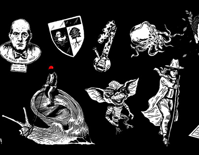 various illustrations for oxxxymiron. 2016—2017