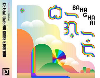 Malibata Redux Baybayin Typeface - Bahaghari / PRIDE