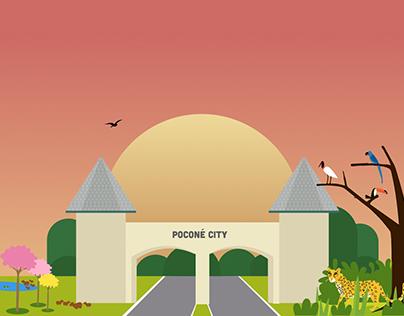 Ilustração da Entrada da Cidade de Poconé - Mato Grosso