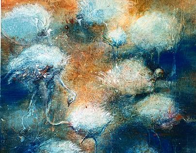 """Birds 2""/""Linnud 2"", 115x115cm on canvas, 2019"