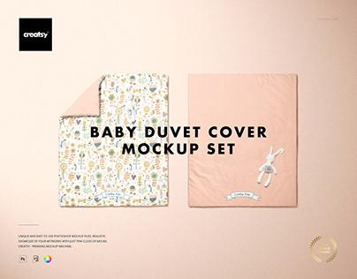 Baby Duvet Cover Mockup Set